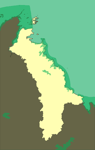 ZNIEFF type II zones of Goelo